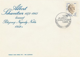 Poland FDC.2902: Albert Schwitzer Nobel Prize - FDC
