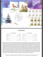 Christmas Estonia 2021  Stamps  Mi 1024-5 Presentation Card Eng - Natale