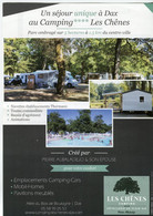 Flyer °_ Camping-Les Chênes-4 étoiles-40-Dax-verso Le Bistrot Du Camping15x21 - Advertising