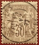 R1311/1103 - SAGE TYPE I N°69 Brun Foncé  ➤ BEAU CàD De TROYES (Aube) Du 15 JANVIER 1877 - 1876-1878 Sage (Typ I)
