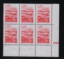 FRANCE  Coin Daté **  Auvergne 2,80  20.04.95  N° Yvert  2951 Neuf Sans Charnière CD - 1990-1999