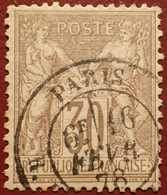 R1311/1104 - SAGE TYPE I N°69 ➤ BEAU CàD De PARIS Du 16 FEVRIER 1878 - 1876-1878 Sage (Typ I)