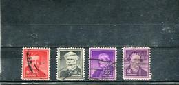 Etats-Unis 1955-56 Yt 600 602 604-605 Série Courante - Used Stamps