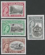 North Borneo. 1956 75th Anniv Of  British North Borneo. MH Complete Set. SG 387-390 - Bornéo Du Nord (...-1963)