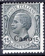 Egeo - Caso, Sass. 10, 15 Centesimi ** - Egeo (Caso)
