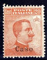 Egeo - Caso, Sass. 11, 20 Centesimi * - Egeo (Caso)