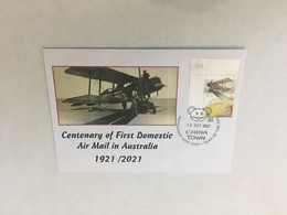(5 A 14) (Australia) Centenary First Domestic Air Mail In Australia (postmarked Today 15 October 2021) - Posta