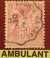 "R1311/1116 - SAGE TYPE I N°104  ➤➤➤ Cachet AMBULANT "" LYON à GENEVE "" - 1876-1878 Sage (Typ I)"