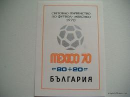 Bulgaria 1970 - Football World Cup - Mexico MNH - Ungebraucht