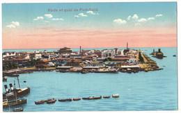 AFRIQUE EGYPTE EGYPT PORT SAÏD : RADE ET QUAI DE PORT SAÏD - Port Said