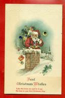 MERRY CHRISTMAS SANTA CLAUS VINTAGE EMBOSSED POSTCARD 4755 - Santa Claus