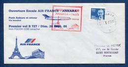 ✈️ Turquie - Premier Vol - Paris - Ankara - Air France - Ouverture Escale - 1986 ✈️ - Aerei