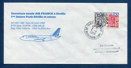 ✈️ France - Premier Vol - Paris - Séville - Air France - Ouverture Escale - 1988 ✈️ - Aerei
