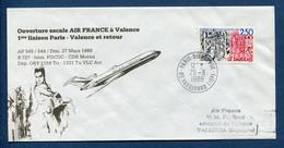 ✈️ France - Premier Vol - Paris - Valence - Air France - Ouverture Escale - 1988 ✈️ - Aerei