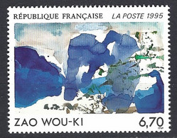 France Yv 2928 - Oeuvre Originale De  Zao Wou-ki ** - Altri