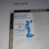 FB11231 FIRENZE 1972 TIMBRO ANNULLO 1'' CONVEGNO NAZIONALE NUMISMATICO CITTA' DI FIRENZE - 1971-80: Storia Postale