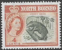 North Borneo. 1961 QEII. 4c MH SG 392 - North Borneo (...-1963)