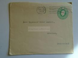 D184930   GB  -  COVER   Cancel 1923 LONDON     - Sent To   Weber Landolt - Menziken  Switzerland - Covers & Documents