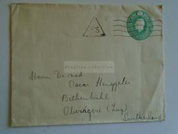 D184931  GB  -  COVER   Cancel 1920's  LONDON   (F.S.)    - Sent To   Oscar Hengeller - Bethenbühl Oberägeri Switzerland - Covers & Documents