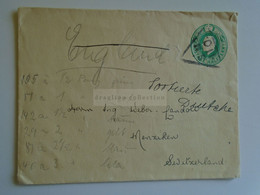 D184932  GB  -  COVER   Cancel 1920's  SM 110     - Sent To  Weber Landolt - Menziken - Switzerland - Covers & Documents