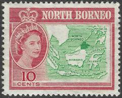 North Borneo. 1961 QEII. 10c MH SG 395 - North Borneo (...-1963)