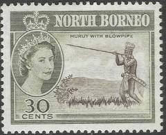 North Borneo. 1961 QEII. 30c MH SG 399 - North Borneo (...-1963)
