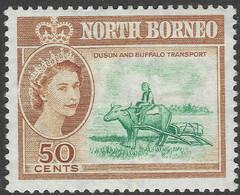 North Borneo. 1961 QEII. 50c MH SG 401 - North Borneo (...-1963)