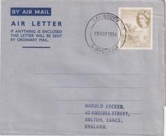 RODHESIE DU SUD 1954    ENTIER POSTAL/GANZSACHE/POSTAL STATIONERY PLI AERIEN DE SALISBURY - Southern Rhodesia (...-1964)
