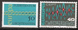 Liechtenstein Europa Cept 1971. 1972. Postfris - Ungebraucht