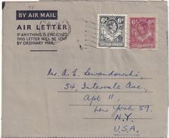 RODHESIE DU NORD 1953     ENTIER POSTAL/GANZSACHE/POSTAL STATIONERY PLI AERIEN DE MUFULIRA - Northern Rhodesia (...-1963)