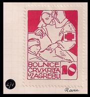 WW1 GERMANY AUSTRIA HUNGARY CINDERELLA VIGNETTE K.u.K ZAGREB HOSPITAL RED CROSS RARE - Erinnofilia