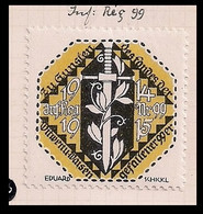 WW1 ERA GERMANY AUSTRIA HUNGARY CINDERELLA VIGNETTE K.u.K AID FUND OF THE FALLEN 99TH INFANTRY REGIMENT 1914-1915 - Erinnofilia