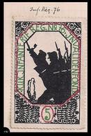 WW1 ERA GERMANY AUSTRIA HUNGARY CINDERELLA VIGNETTE K.u.K Widows And Orphans Of The 76th Infantry Regiment - Erinnofilia