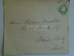 D184936  GB-  Cover  Postage Half Penny  - Sent To Herrn Direktor - Hotel Strela  -DAVOS Platz   Switzerland - Covers & Documents