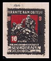 WW1 ERA GERMANY AUSTRIA HUNGARY CINDERELLA K.u.K BENEFIT SOCIETY ORPHAN AND WIDOW FOOD AID ZAGREB CROATIA - Erinnofilia