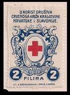 WW1 ERA GERMANY AUSTRIA HUNGARY CINDERELLA K.u.K RED CROSS SOCIETY OF THE KINGDOM OF CROATIA AND SLOVANIA  DRUG. ZAGREB - Erinnofilia
