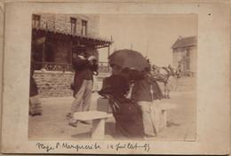 44  SAINTE  MARGUERITE  DE  PORNICHET  PHOTO ANCIENNE ALBUMINE   14  07  1895  PLAGE STE MARGUERITE DE PORNICHET - Oud (voor 1900)