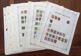 Timbres Grande Bretagne Collection Sur Feuilles Cf Mes 31 Photos - Neufs & Oblitérés UK Great Britain Stamps Angleterre - Collections