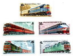 1982 - Russia 4907/11 Treni - Treni