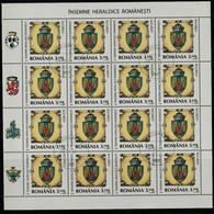 2008 -  Héraldique, Mi No  6326/6329  Full X 16 - Usati