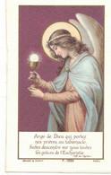 ANGE DE DIEU QUI PORTEZ NOS PRIERES : SOUVENIR MADELEINE POUX A CREISSAN EN 1918 IMAGE PIEUSE HOLY CARD SANTINI - Devotion Images