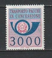 1984 PACCHI CONCESSIONE  3000 Lire   NUOVO MNH - 1981-90:  Nuovi
