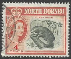 North Borneo. 1961 QEII. 4c Used SG 392 - North Borneo (...-1963)