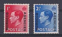 MAROC  Marocco Agencies ( 1936 Edouard  VIII )  N ° 37 Et 38  Neuf ** MNH - Morocco Agencies / Tangier (...-1958)