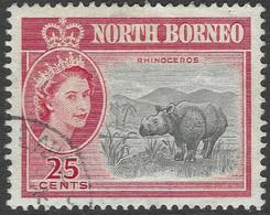 North Borneo. 1961 QEII. 25c Used SG 398 - North Borneo (...-1963)