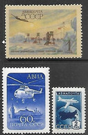 Russia  1955-6  Sc#C94, C97-8  MNH  2016 Scott Value $3.75 - Nuovi