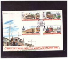 TEM15155  -   ISLE O FMAN   8.2.1995  /   FDC     MICHEL NR.   617/620 - Treni