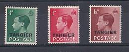 MAROC  TANGER  TANGIER ( 1936  édouard  VIII )  N ° 11  12  Et  13  Neuf ** MNH - Morocco Agencies / Tangier (...-1958)