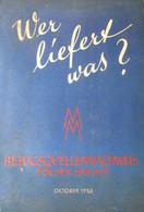 Wer Liefert Was? Bezugsquellennachweis Für Den Einkauf - 1950 - Adresboek Telefoonboek Annuaire - Storia