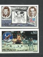 MONACO  1970 Space, Moon Landing Apollo XI  2v.  Imperf.   Rare! - Altri